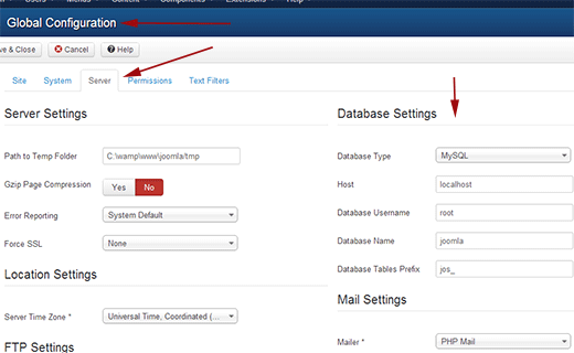 joomla-db-settings-parswp