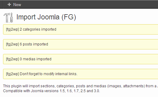 joomla-import-success-parswp
