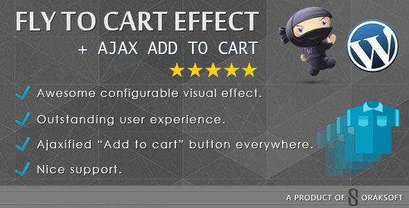 آژاکس و افکت افزودن به سبد خرید ووکامرس با WooCommerce Fly to Cart Effect