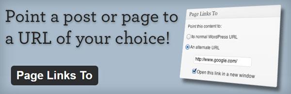 انتقال آدرس برگه به لینک جدا در وردپرس با Page Link To
