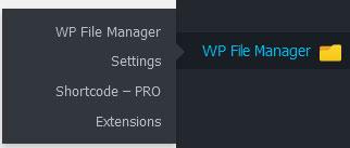 مدیریت فایل ها با فایل منیجر وردپرس ، افزونه File Manager