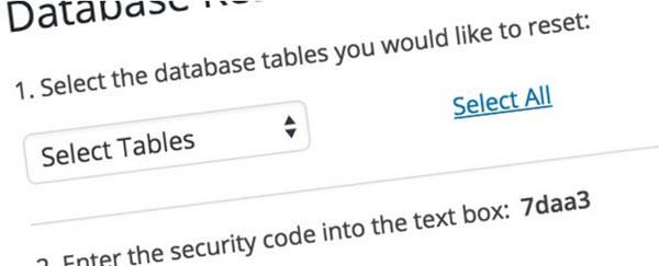 ریست سریع وردپرس و برگرداندن آن به حالت اولیه با wordpress database reset